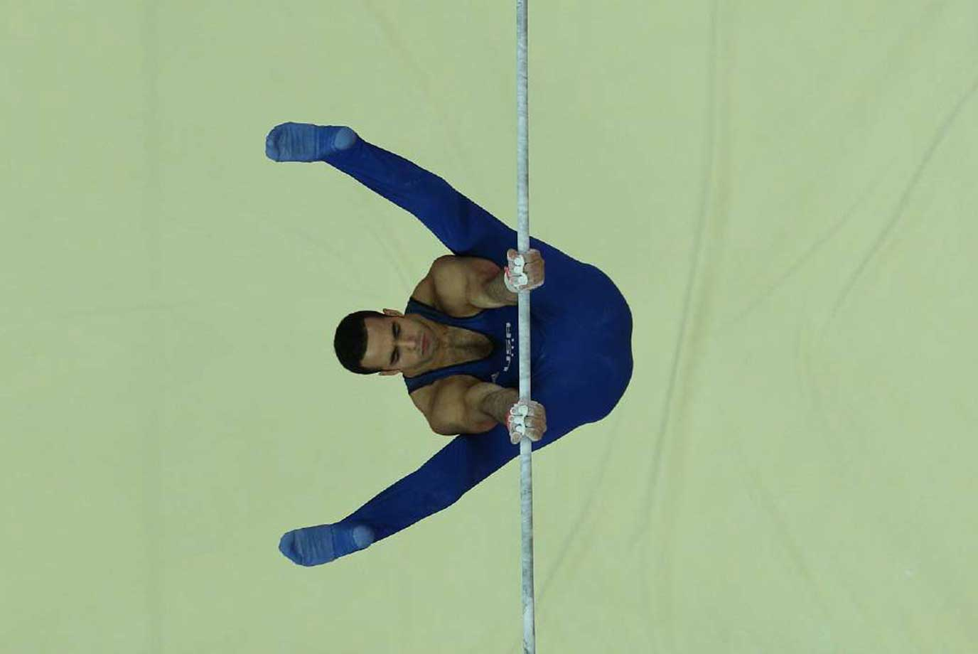 Action in the men's individual All-Around final at the London 2012 Summer Olympic Games.