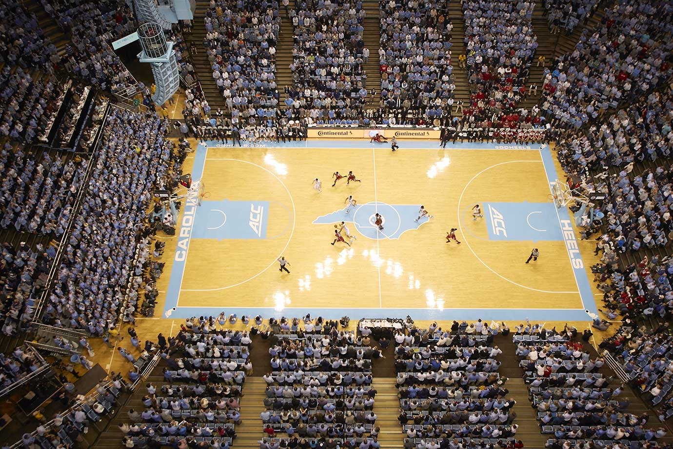 A look at the Dean Smith Center during a game between North Carolina and North Carolina State.
