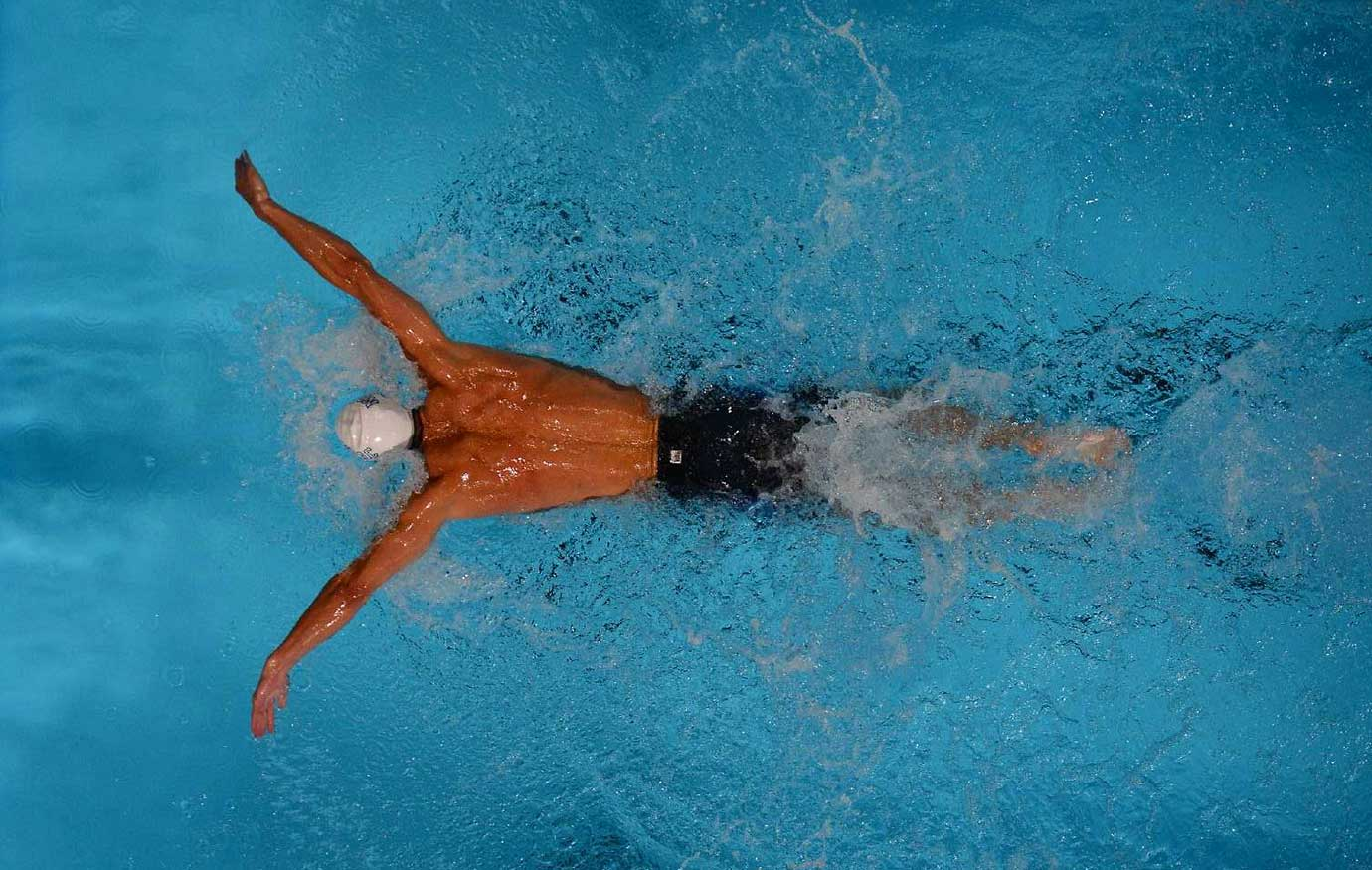 Michael Phelps in the 200-meter butterfly semifinals at the 2012 U.S. Olympic Swimming Trials.