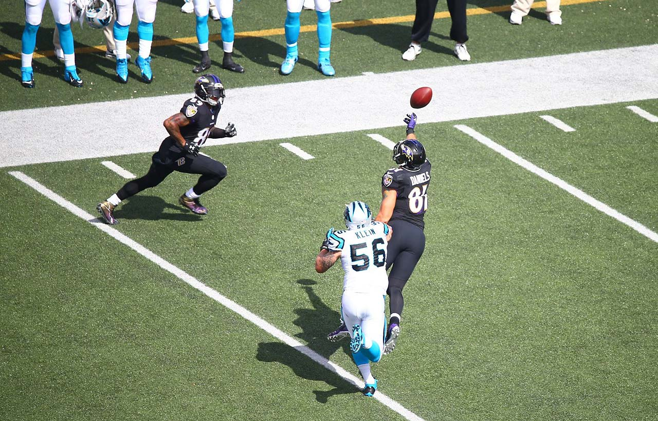 Smith was playing his former team, the Carolina Panthers.