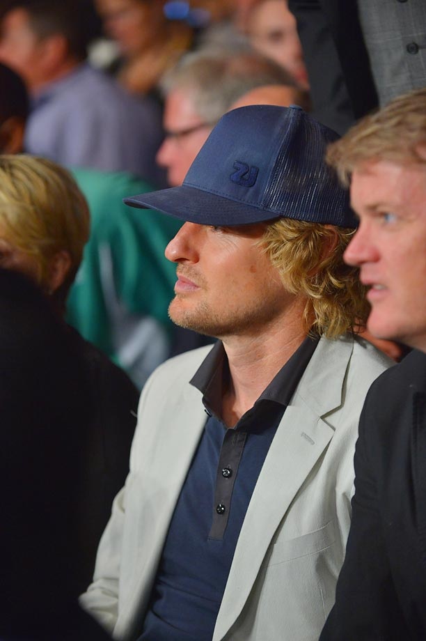Owen Wilson at Floyd Mayweather Jr. vs. Canelo Alvarez.