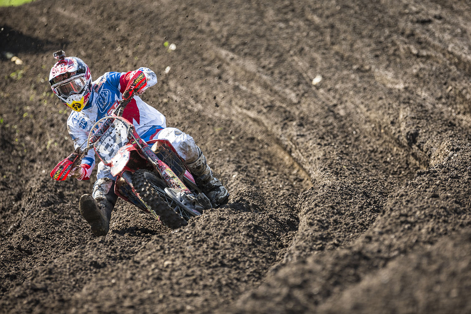 Shane McElrath competes in the AMA Pro Motocross Championships at Unadilla Valley Sports Center in New Berlin, New York on August 9th, 2014.