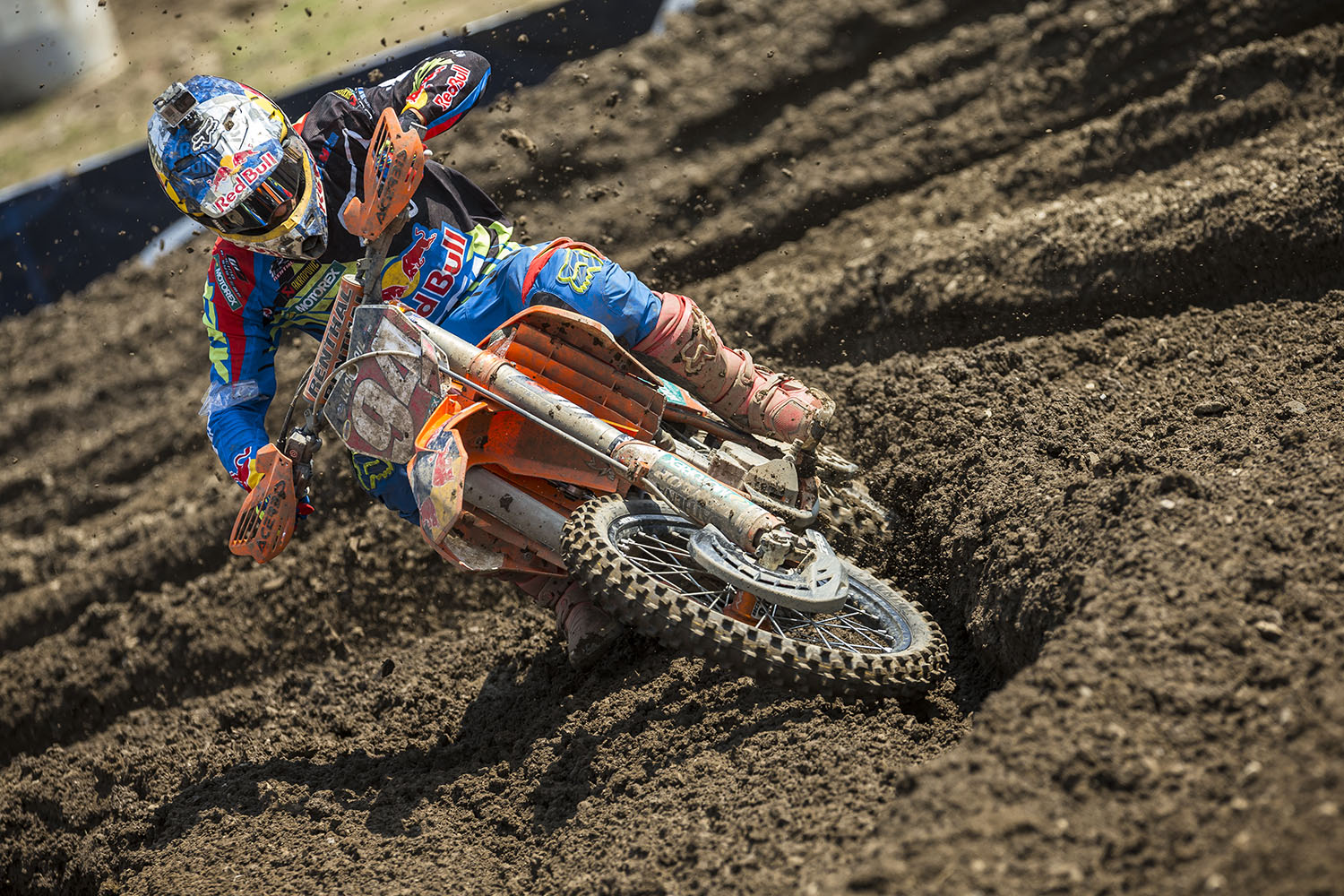 Ken Roczen competes in the AMA Pro Motocross Championships at Unadilla Valley Sports Center in New Berlin, New York on August 9th, 2014.