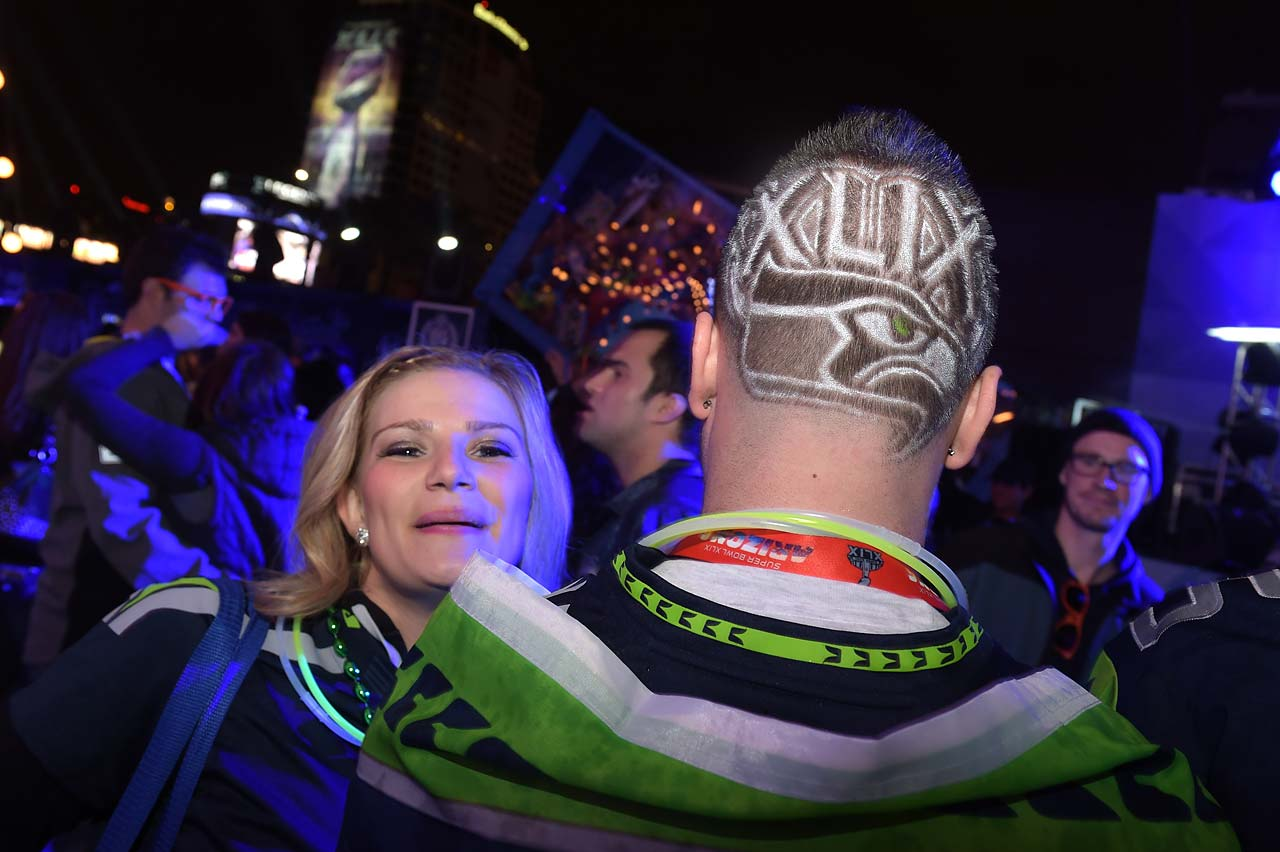 Thousands of partygoers enjoy the festivities at Bud Light House of Whatever, the ultimate #UpForWhatever experience, featuring three days of parties, concerts and activities leading up to Super Bowl XLIX.
