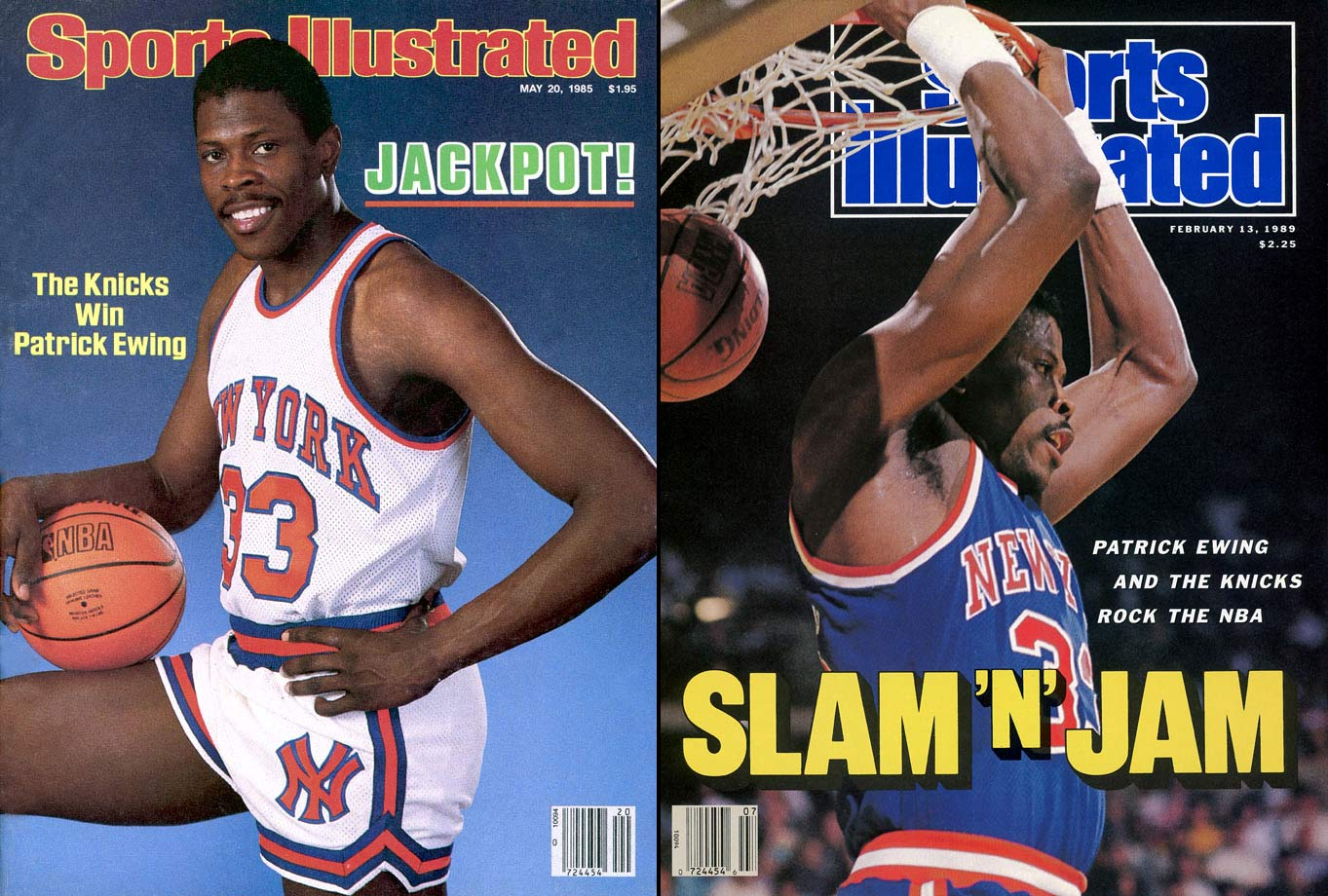 The 1984-85 College Player of the Year and 1985-86 NBA Rookie of the Year, Patrick Ewing was the No. 1 overall pick of the 1985 NBA Draft. The Hall of Fame center made 11-time All Star games through 15 seasons.