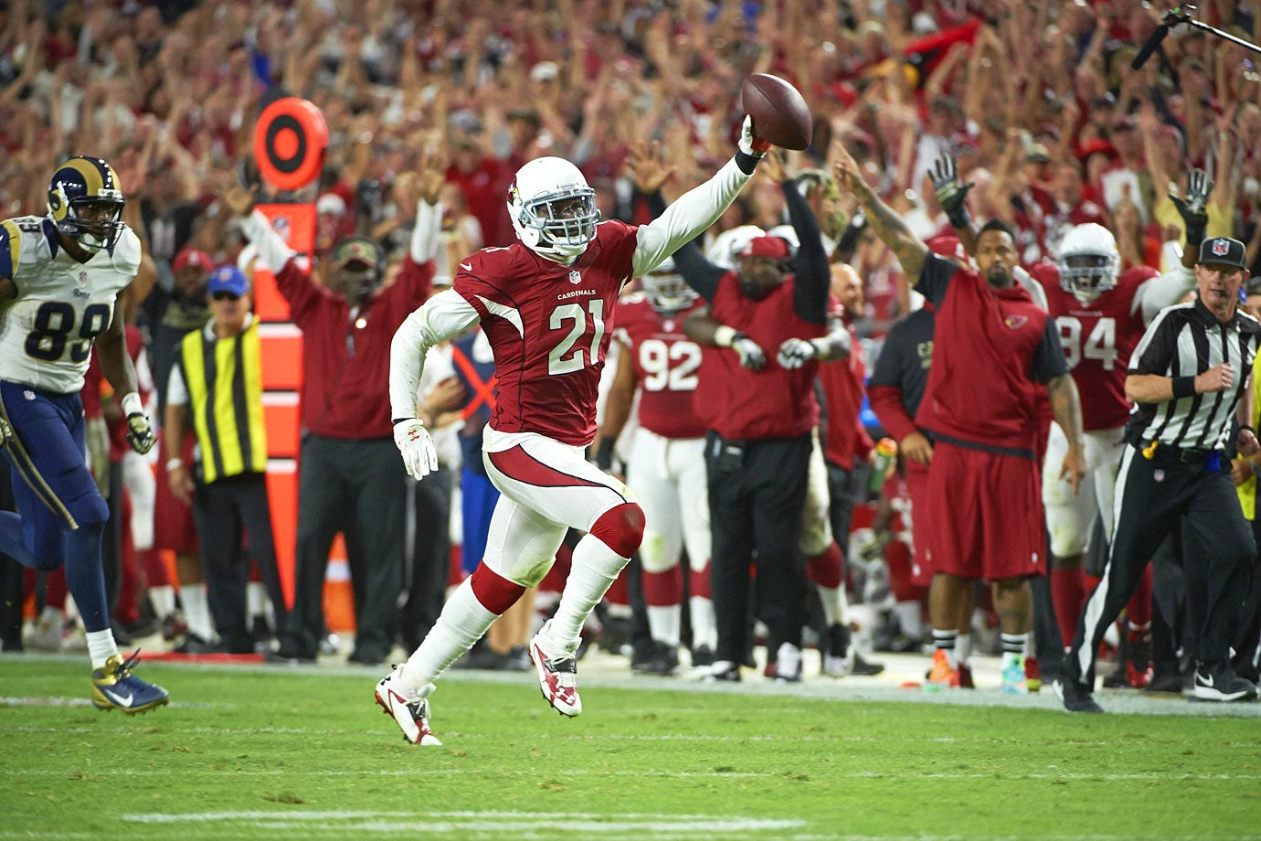 The Arizona Cardinals cornerback has made five Pro Bowls in five seasons. Peterson returned four punts for touchdowns his rookie year and has 17 interceptions in his career.