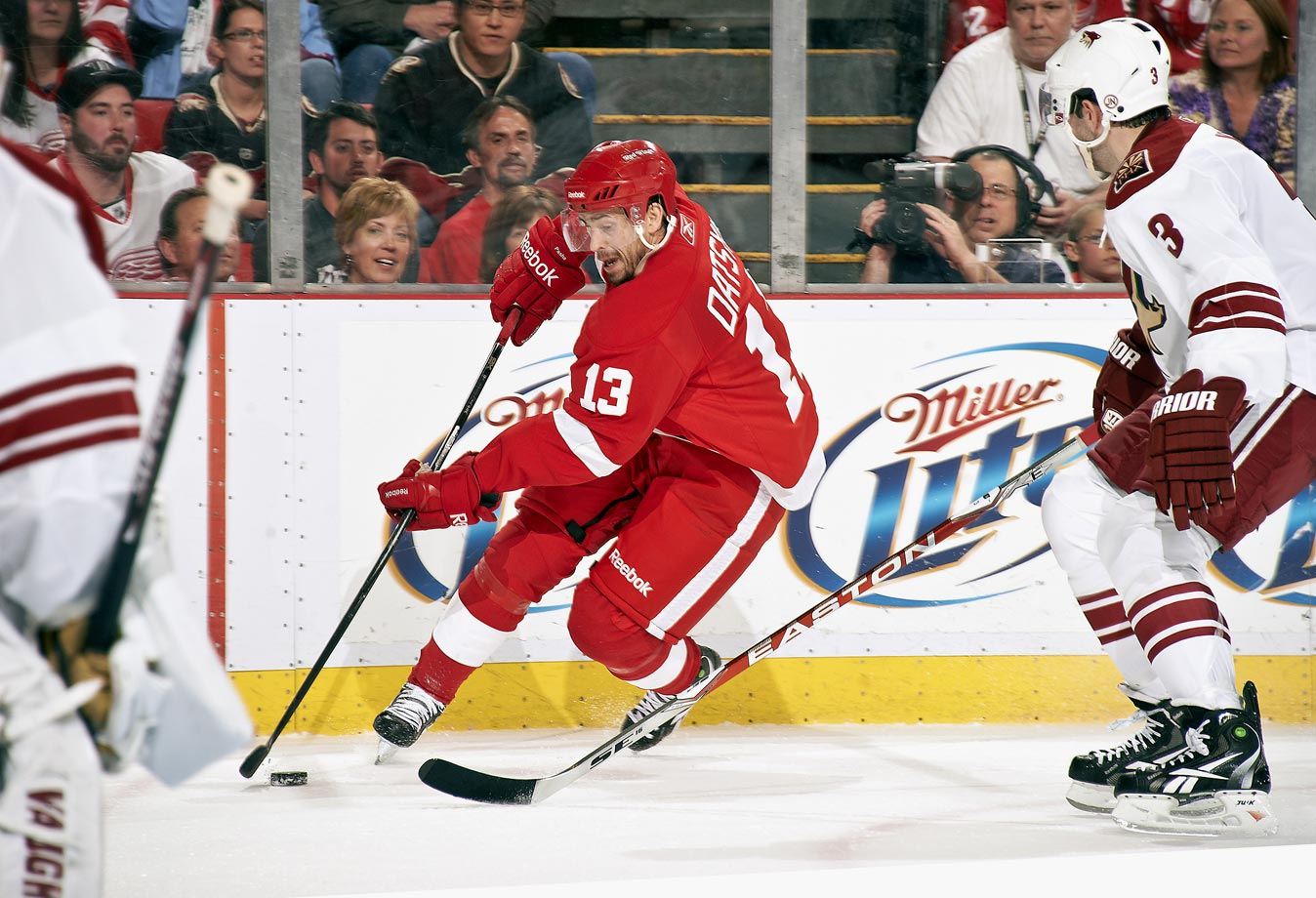 The two-way artist for the Red Wings -- a three-time winner of the Selke Trophy -- Datsyuk has been selected to three All-Star Games and helped Detroit to Stanley Cup victories in 2002 and 2008.