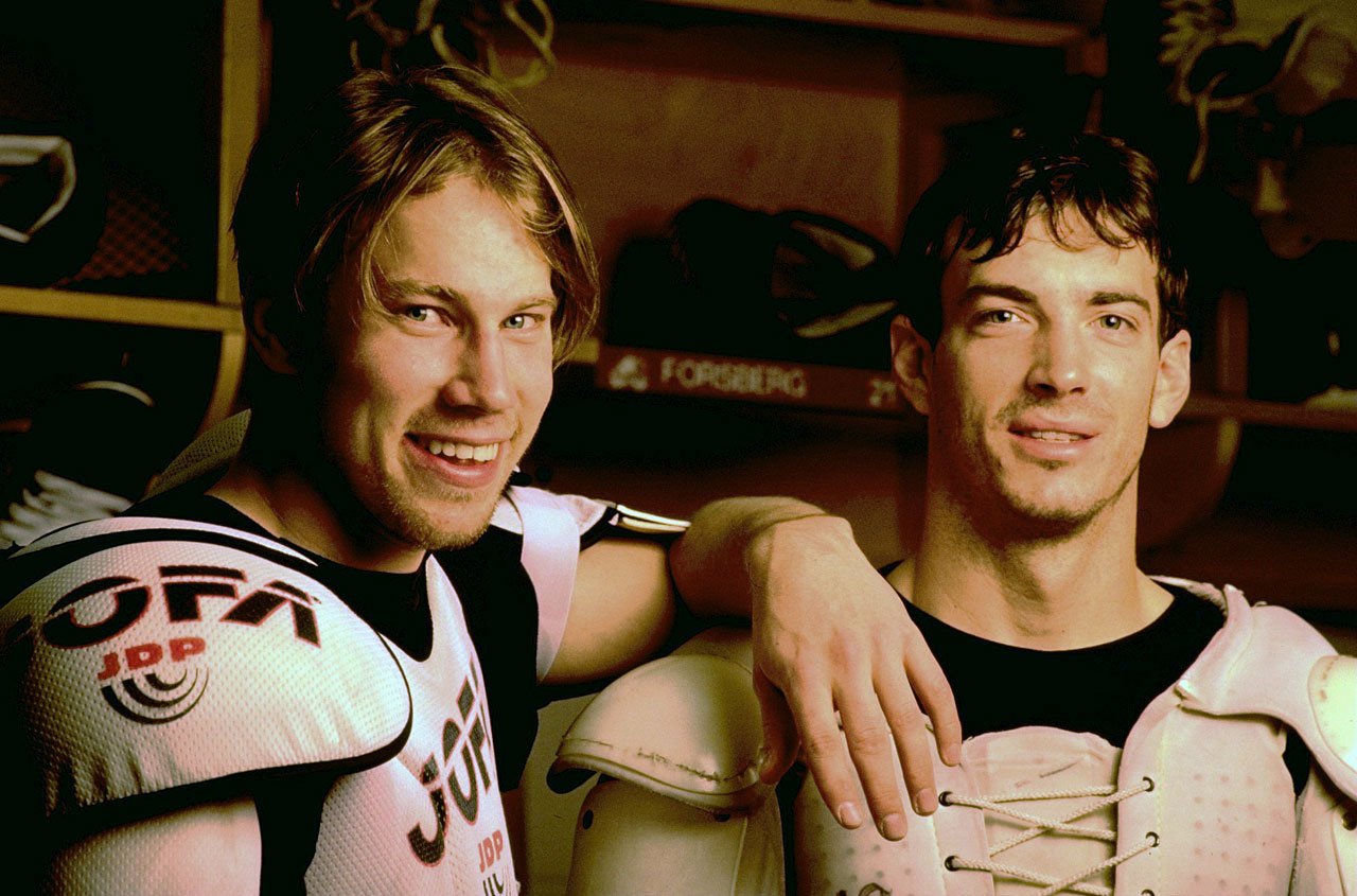 "Forsberg and Joe Sakic were mainstays of Colorado's two Stanley Cup teams (1996, 2001). On the international stage, the man known as ""Foppa"" won gold at the 1992 and 1998 World Championships and became a national hero in his native Sweden after scoring the now legendary golden goal at the 1994 Winter Games in Lillehammer, Norway."