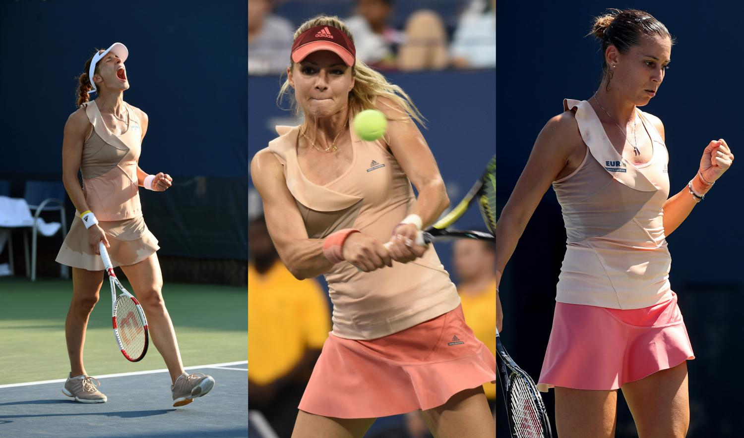 The Stella McCartney ruffles on these three ladies were one of our least favorite looks of the tournament.