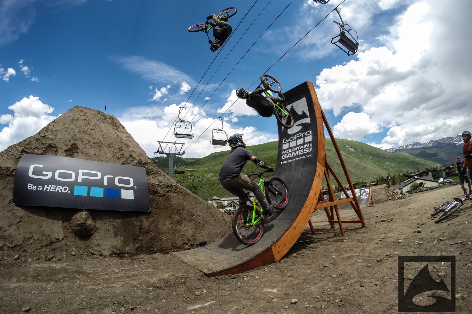 Bikers took on high-flying ramps at the Slopestyle event, which featured earthworks of gap jumps, berms and spines for the competitors to show off their tricks and battle for the $10,000 grand prize.