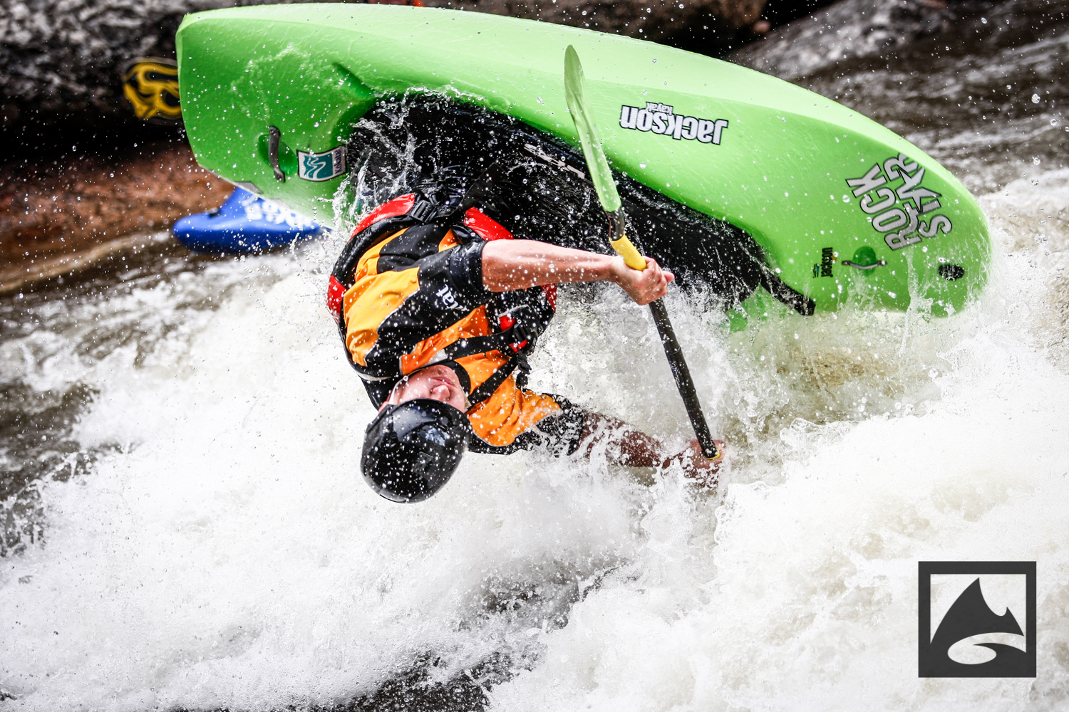 The Kayak Freestyle competition is a staple at the GoPro Mountain Games, and this year's battle went down at the Vail Whitewater Park. Each kayaker had a timed run to show off his best cartwheels, loops, phonics monkeys, space godzillas and other wild tricks to impress the judges.