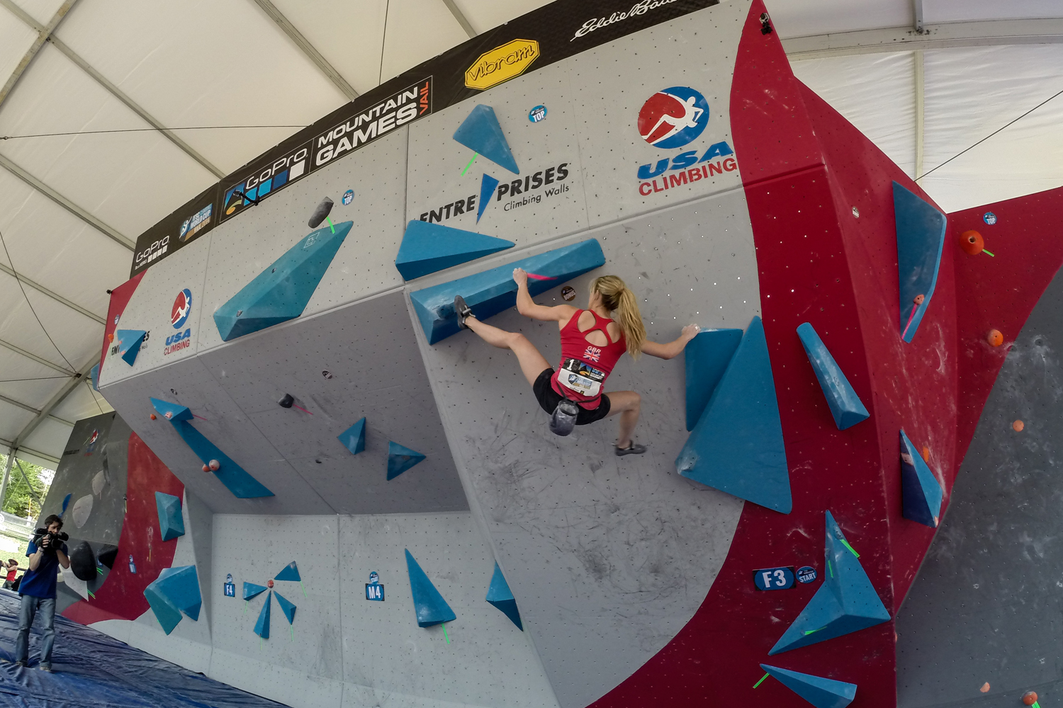 Climbers in the IFSC Bouldering World Cup ascended up the mountain wall in Vail, but it was Akiyo Noguchi of Japan who upset three-time champion Anna Stoher of Austria for the first place spot.