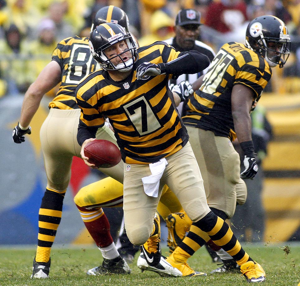 In honor of the franchise's 80th season, the Steelers brought back these throwback uniforms in 2012.