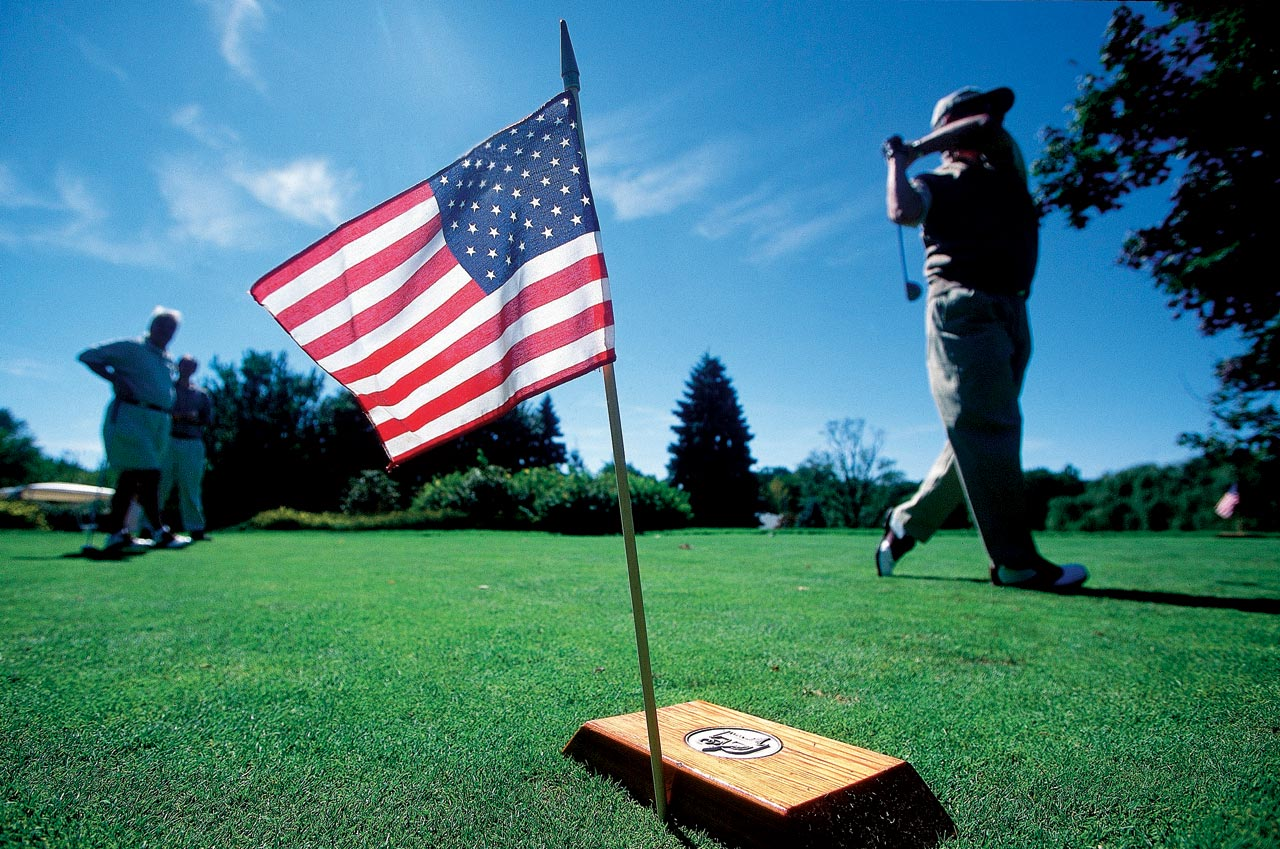 Plandome Golf Club in Manhasset, N.Y., honored its missing members with makeshift memorials.