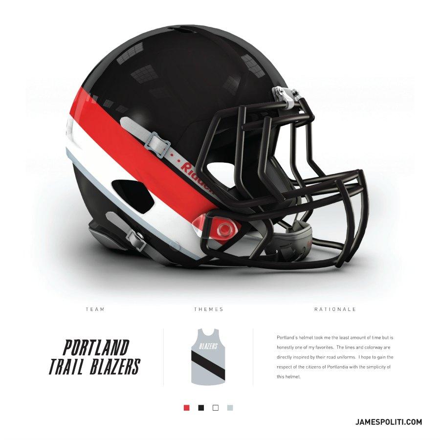 Portland Trail Blazers Reddit: NBA Teams Get NFL Helmets From Graphic Designer