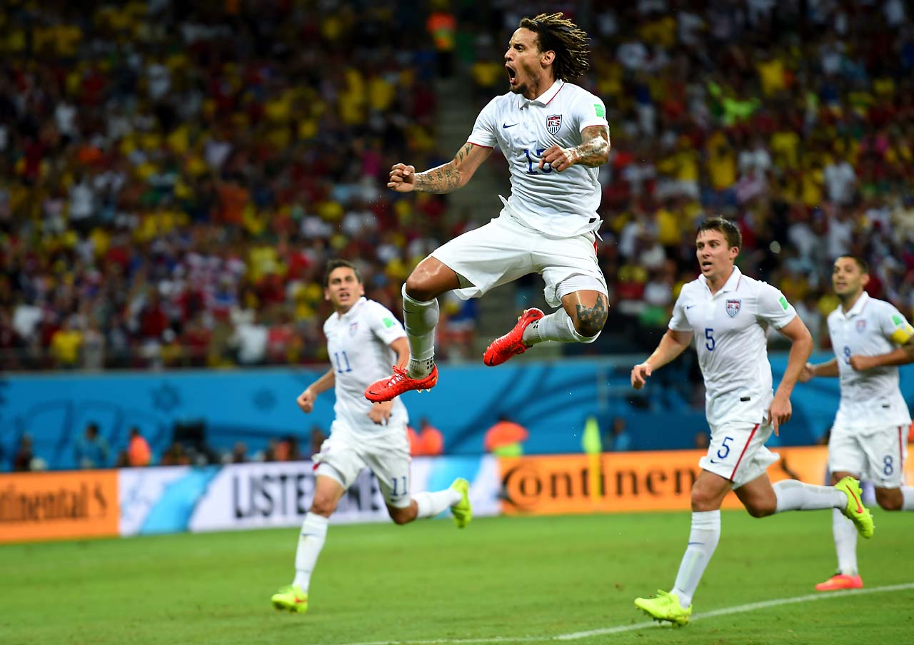 Jermaine Jones made his presence known against Portugal, tying the game at 1-1 with his curling shot after a cross from Graham Zusi made its way through the Portugal defense.