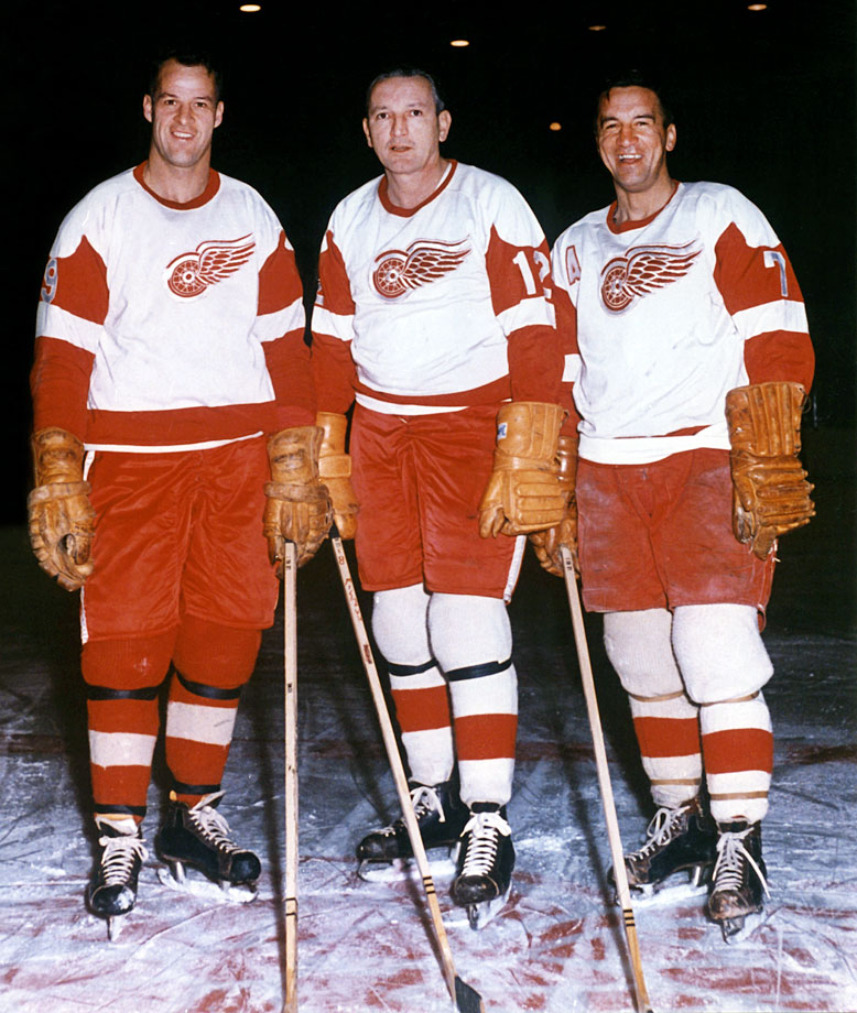 "The Production Line was a natural for a city loaded with auto assembly plants, and the trio of left winger ""Terrible Ted"" Lindsay, center ""Boot Nose"" Abel (an alumnus of Detroit's Liniment Line with Don Grosso and Eddie Wares) and right winger Howe was a classic of power and proficiency. They finished 1-2-3 in scoring in 1949-50 as the Wings won the Stanley Cup, and boasted two of the NHL's top three scorers in three of the next four seasons."
