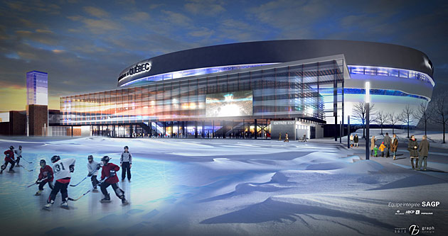 Designing quebec city s new centre videotron arena for nhl for Design interieur quebec
