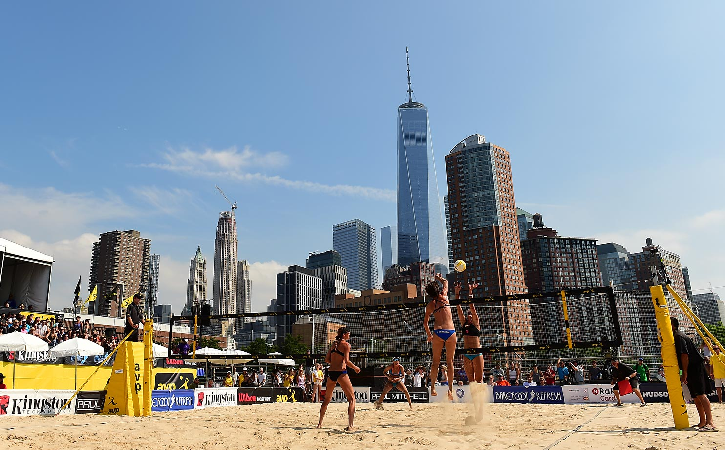 The Freedom Tower and lower Manhattan provided a great backdrop to the tournament.