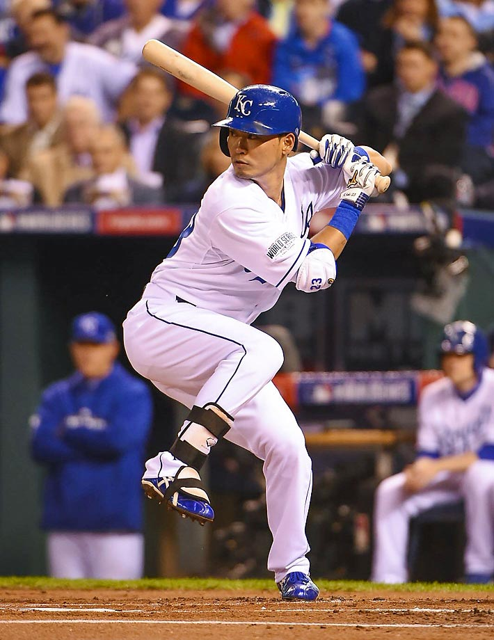 Right fielder Norichika Aoki in the first inning.