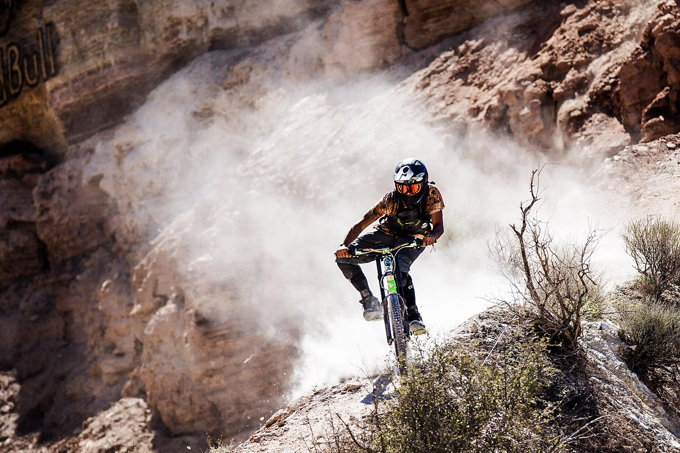 Nicola Pescetto of Spain during practice for Red Bull Rampage.
