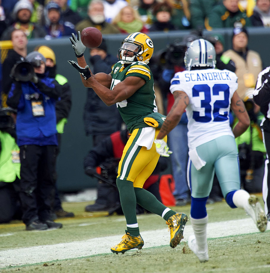 Green Bay is the only team with two receivers on this list, and while that's a testimony in part to Aaron Rodgers's greatness, it's also about Cobb's game-breaking ability and the creativity of the Packers' coaching staff. You'll see him as an outside receiver and a sweep/fake guy in certain packages, but where Cobb has really established himself is as the most productive slot receiver in the NFL today—and it's not really close.