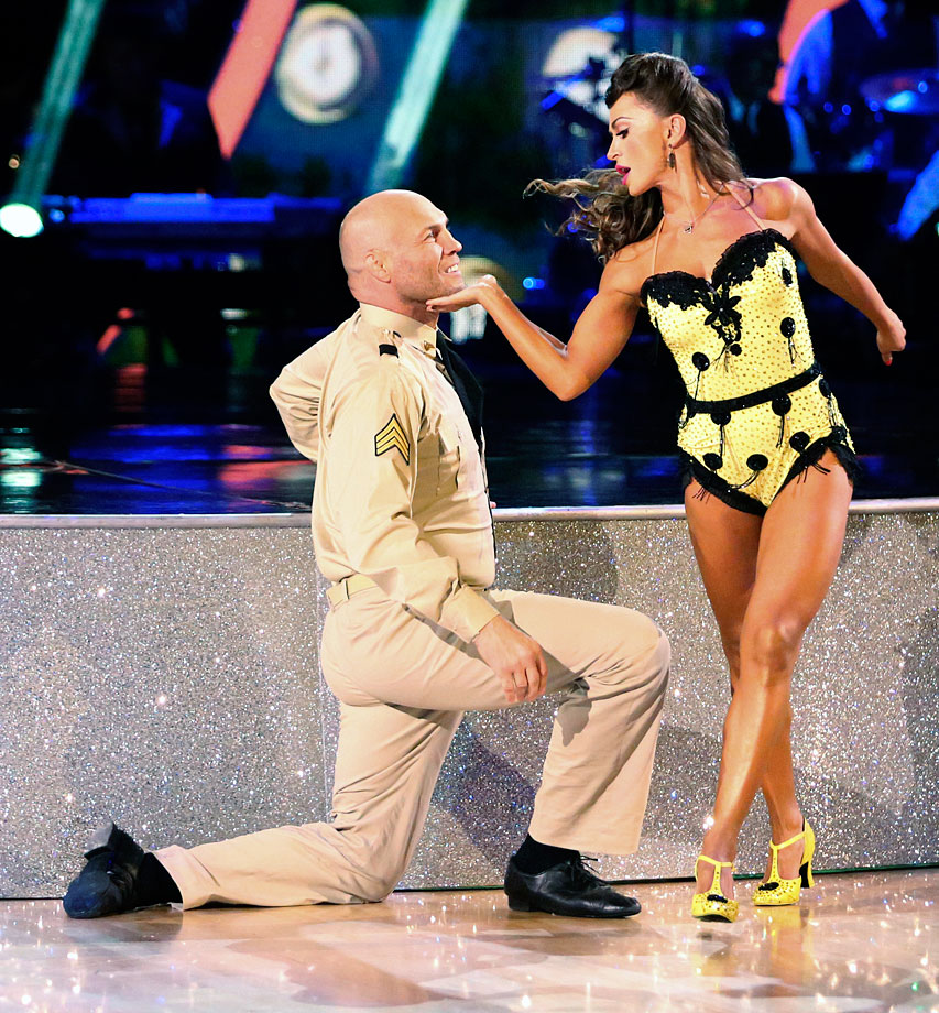 UFC champion Randy Couture finished in 11th place with dancing partner Karina Smirnoff in Season 19.