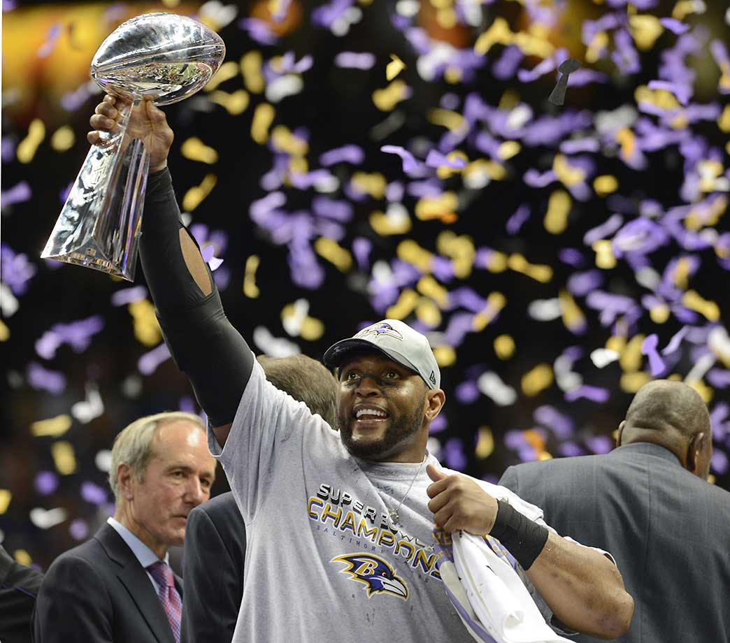In the final season of an illustrious 17-year career, Ray Lewis ended his playing days with a victory in the Super Bowl over the San Francisco 49ers. Lewis had announced before the playoffs began that this would be his final year, but even he had no idea it would end the way it did.