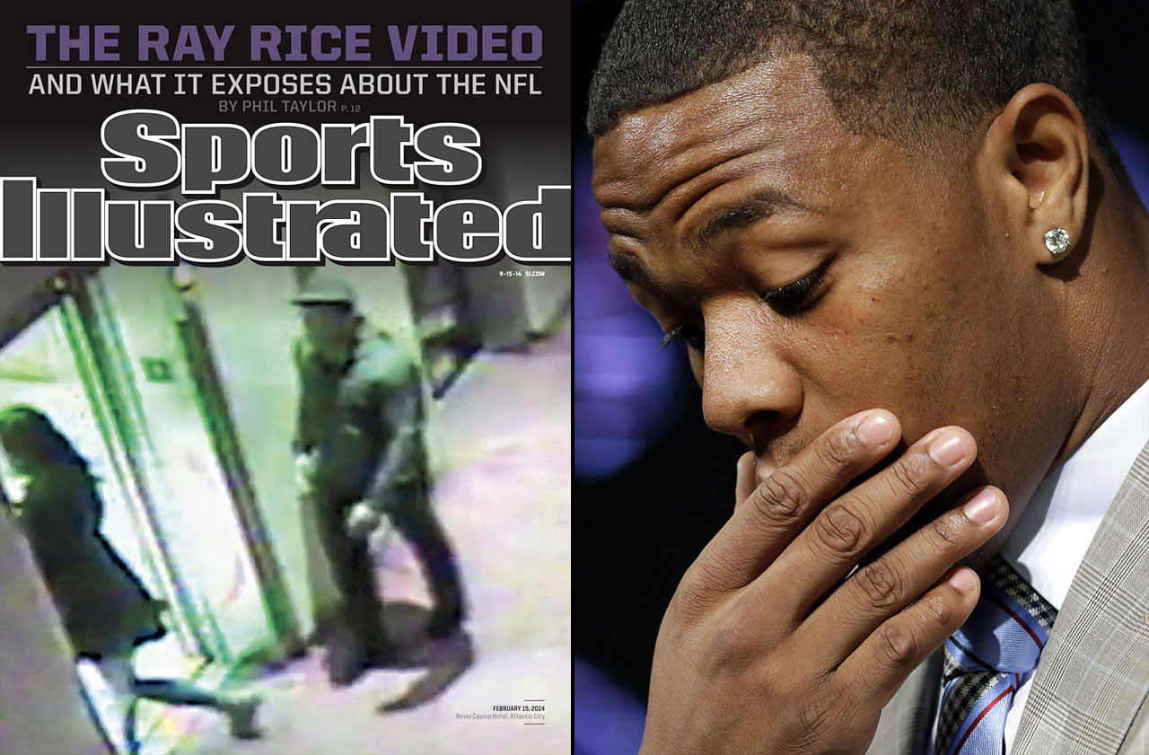 The Ravens running back became the ugly face of domestic violence after a horrifying security video of him knocking out his fiancée in a casino elevator was made public. Charged with assault, Rice's two-game suspension was later made indefinite by the NFL amid growing public outrage. Seemingly repentant, Rice appealed and reversed his ban as similar cases (including Greg Hardy and Jonathan Dwyer in the NFL, MLB's Evan Reed, NASCAR's Kurt Busch, the NHL's Slava Voynov, and soccer's Hope Solo) came to light and put heat on teams, leagues and organizations for their sometimes lax response to such incidents.