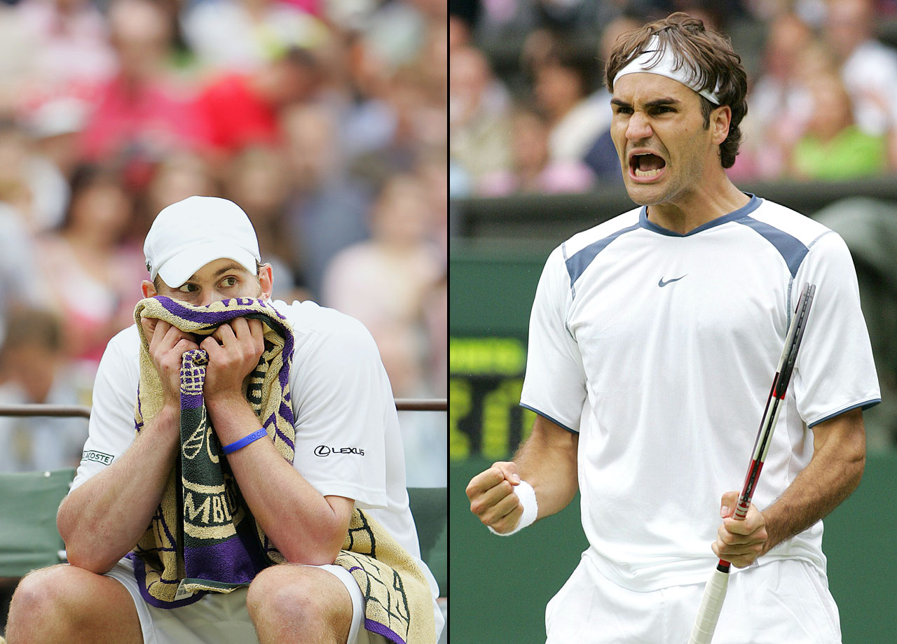 "Calling his play in the final ""the best in my life,"" Federer picked apart Andy Roddick 6-2, 7-6 (7-2), 6-4 for his third consecutive Wimbledon title. Federer lost one set in the tournament, to Nicolas Kiefer in the third round."