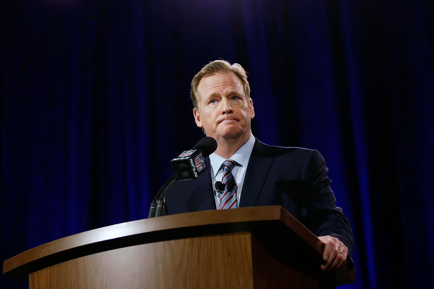 After getting skewered for being too lenient in the Ray Rice case, Goodell had two of his suspensions (Adrian Peterson's and Tom Brady's) thrown out in federal court. Not a good year for his version of justice.