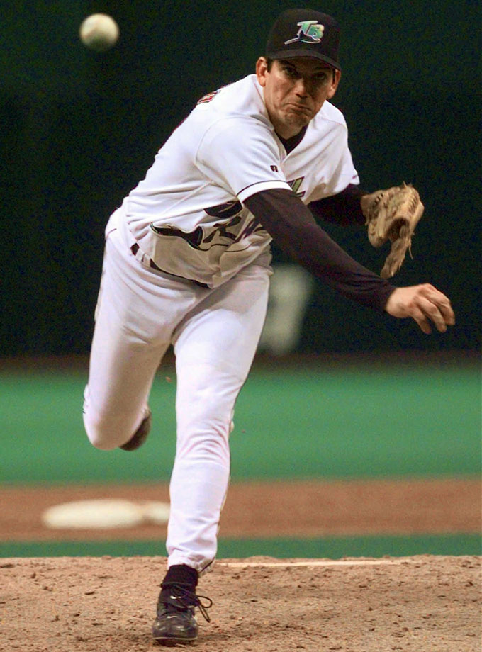 On a United States tour with the Cuban national team prior to the 1996 Olympics, Arrojo defected in the wee hours in Albany, Ga. The right-handed pitcher signed with the Devil Rays and was an All-Star in his first season (1998), going 14-12 with a 3.56 ERA. He went on to pitch four more seasons for the Devil Rays, Rockies and Red Sox, finishing with a career ERA of 4.55.