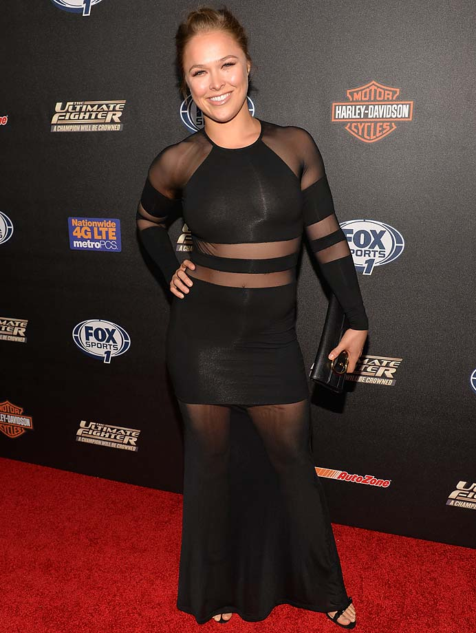 "Ronda Rousey attends FOX Sports 1's ""The Ultimate Fighter"" Season Premiere Party in Hollywood."