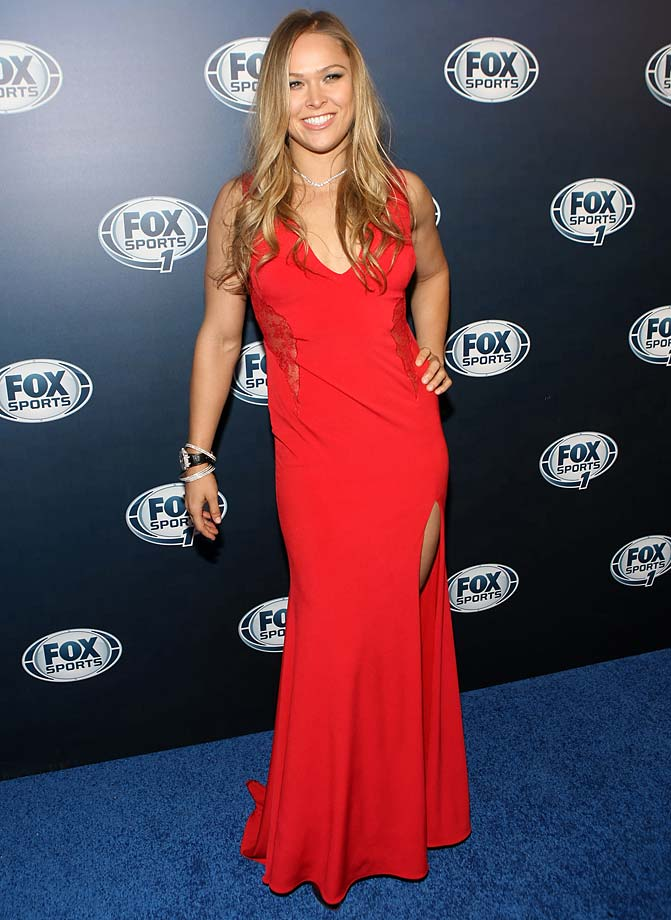Ronda Rousey attends the Fox Sports Media Group Upfront after party at Roseland Ballroom in New York City.