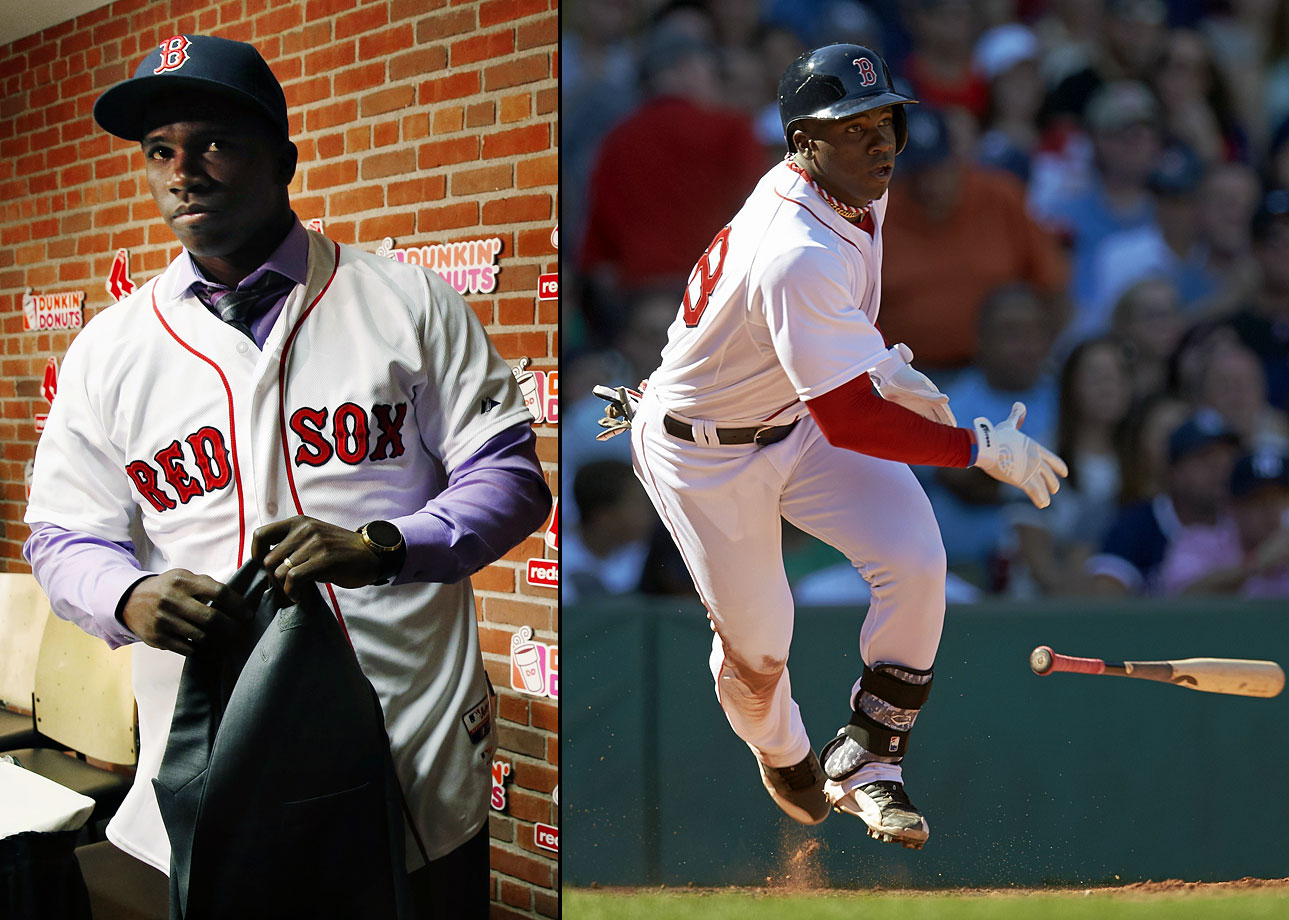 The Cuban defector signed with Roc Nation in June 2014, and two months later the Boston Red Sox agreed to a seven-year, $72.5 million deal with the outfielder
