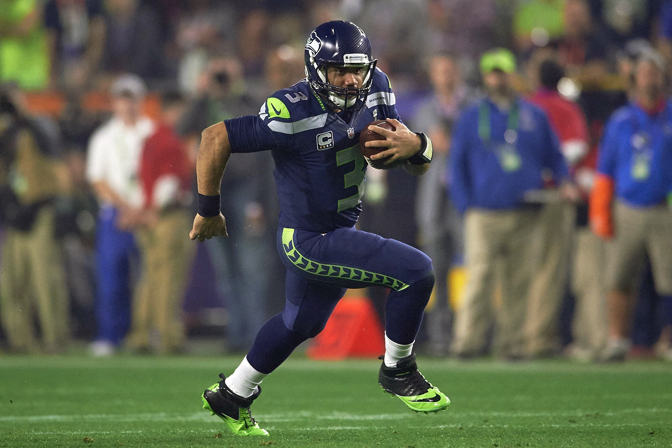 During last season's playoffs, Wilson did a lot to prove that he can stand in the pocket and fire the ball downfield with the best of them. He led all quarterbacks with 12 completions on 19 deep attempts, for 422 yards, three touchdowns and one interception. If he can build on that with new targets Jimmy Graham and Tyler Lockett and maintain his threat as a read-option runner, Wilson may indeed prove to be worth the huge contract he wants. This is the year he has to prove it.