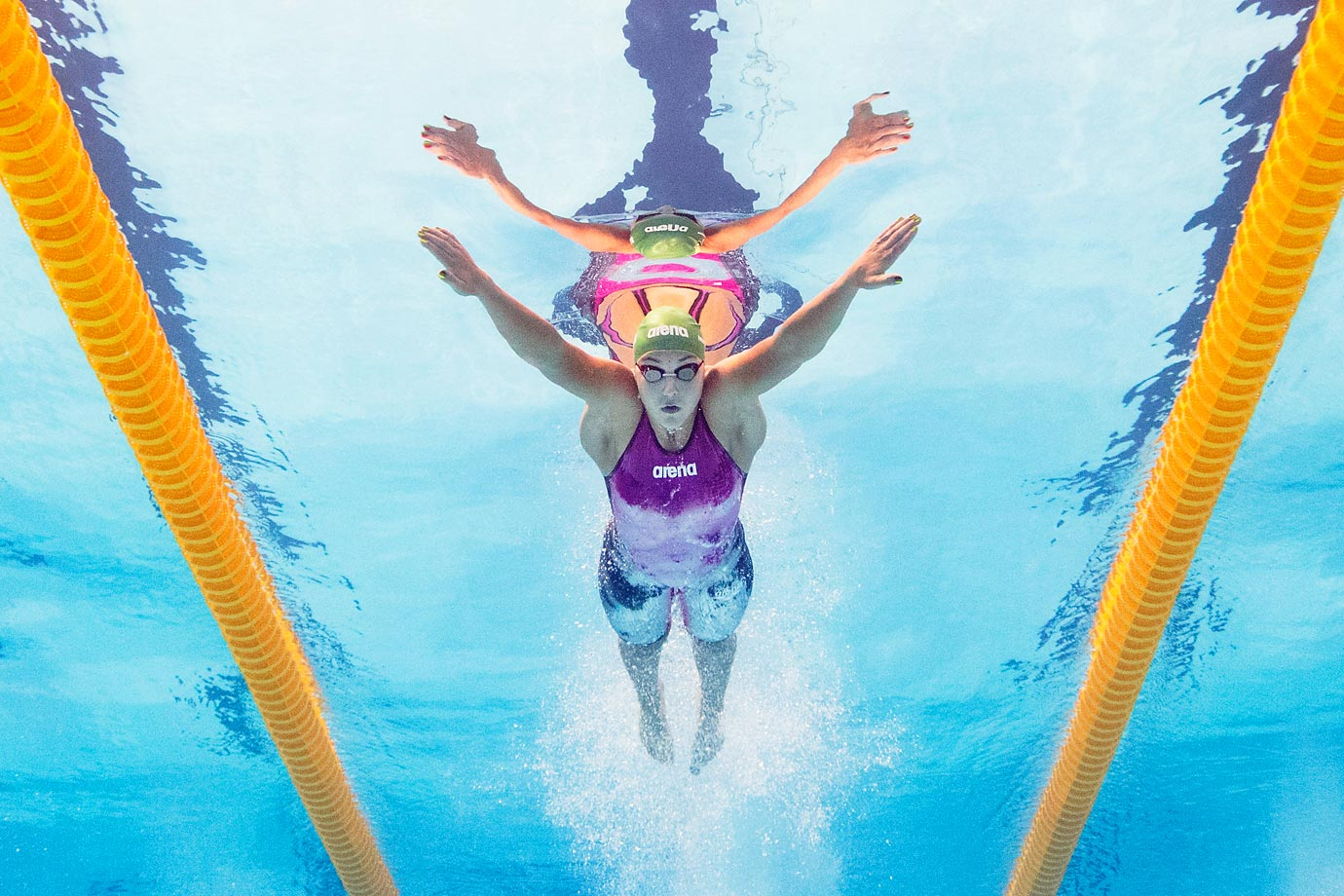 Ruta Meilutyte of Lithuania competes in the 100m breaststroke at the 16th FINA World Championships.