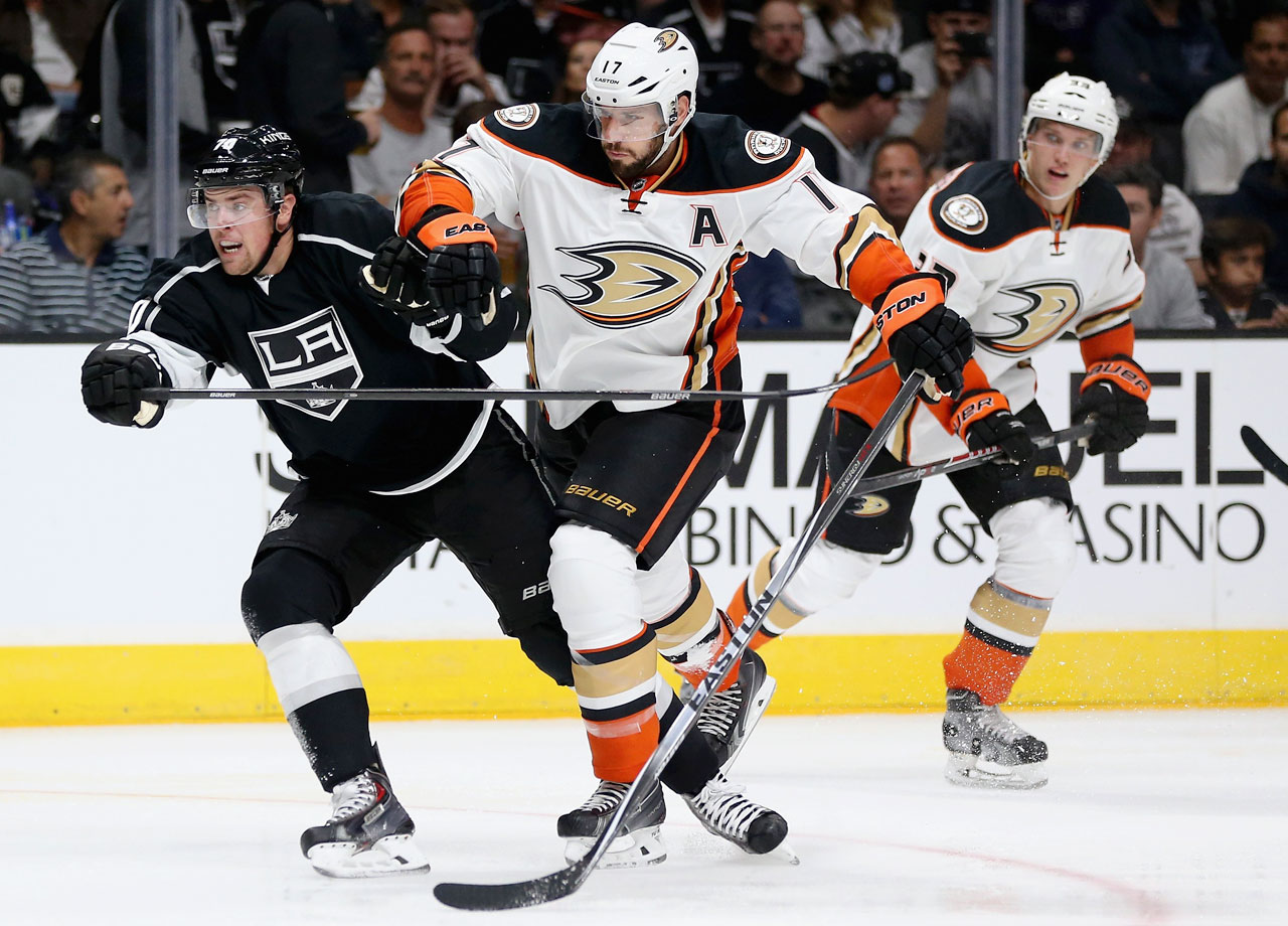 A former Selke Trophy winner as the NHL's best two-way forward, Kesler left Vancouver via trade and under a cloud of discontent. He now provides the Cup-contending Ducks with some formidable depth at center. The 10-year vet is still in his prime at age 30—a rugged physical presence with scoring touch, great skill in the face-off circle, and penalty-killing prowess. If he's at the top of his game this season, the Ducks could very well crash the brawl for the Western crown that is expected between the Kings and Blackhawks.