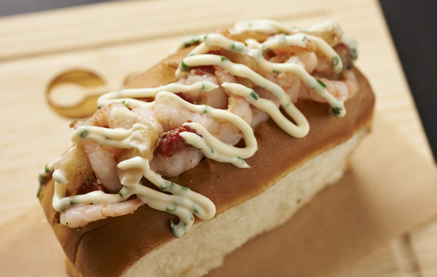 Bay shrimp roll