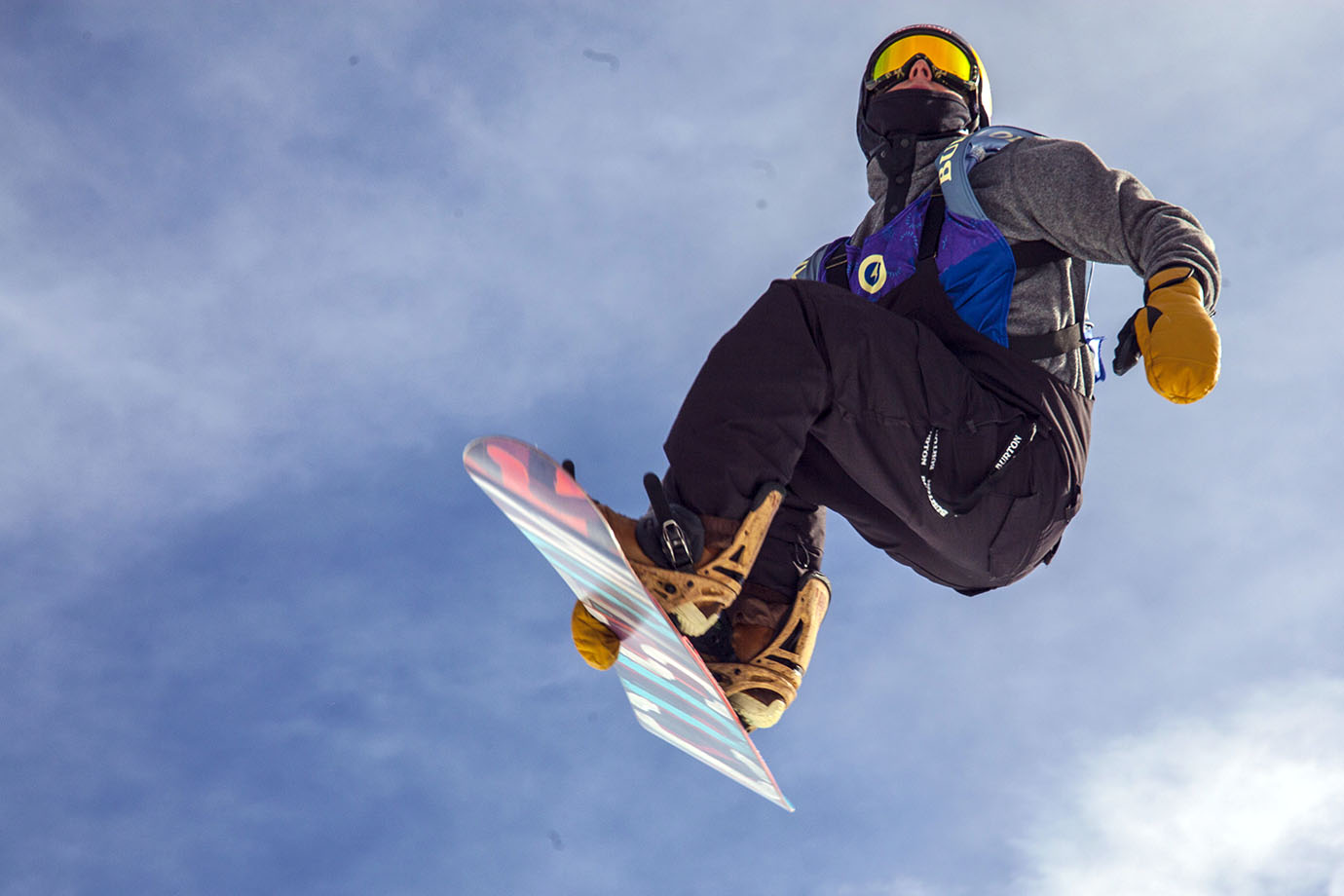 Ben Ferguson soars through the air on his third and final run of the Superpipe final. After falling deep into his first two runs, the man known as Ben Ferg executes his third to perfection, earning him the second spot.