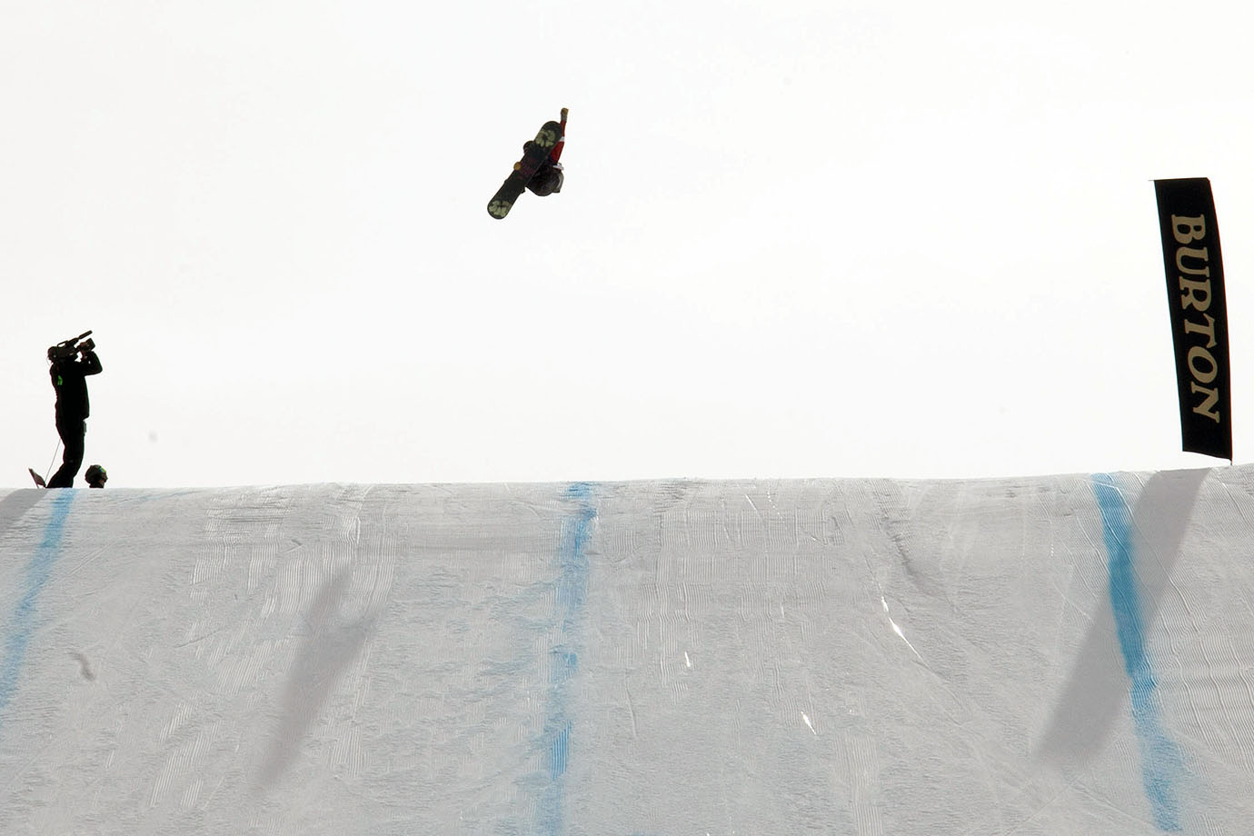 Women's second place winner Karly Shorr rises above the final jump of the Slopestyle course on the run that put her in second position.