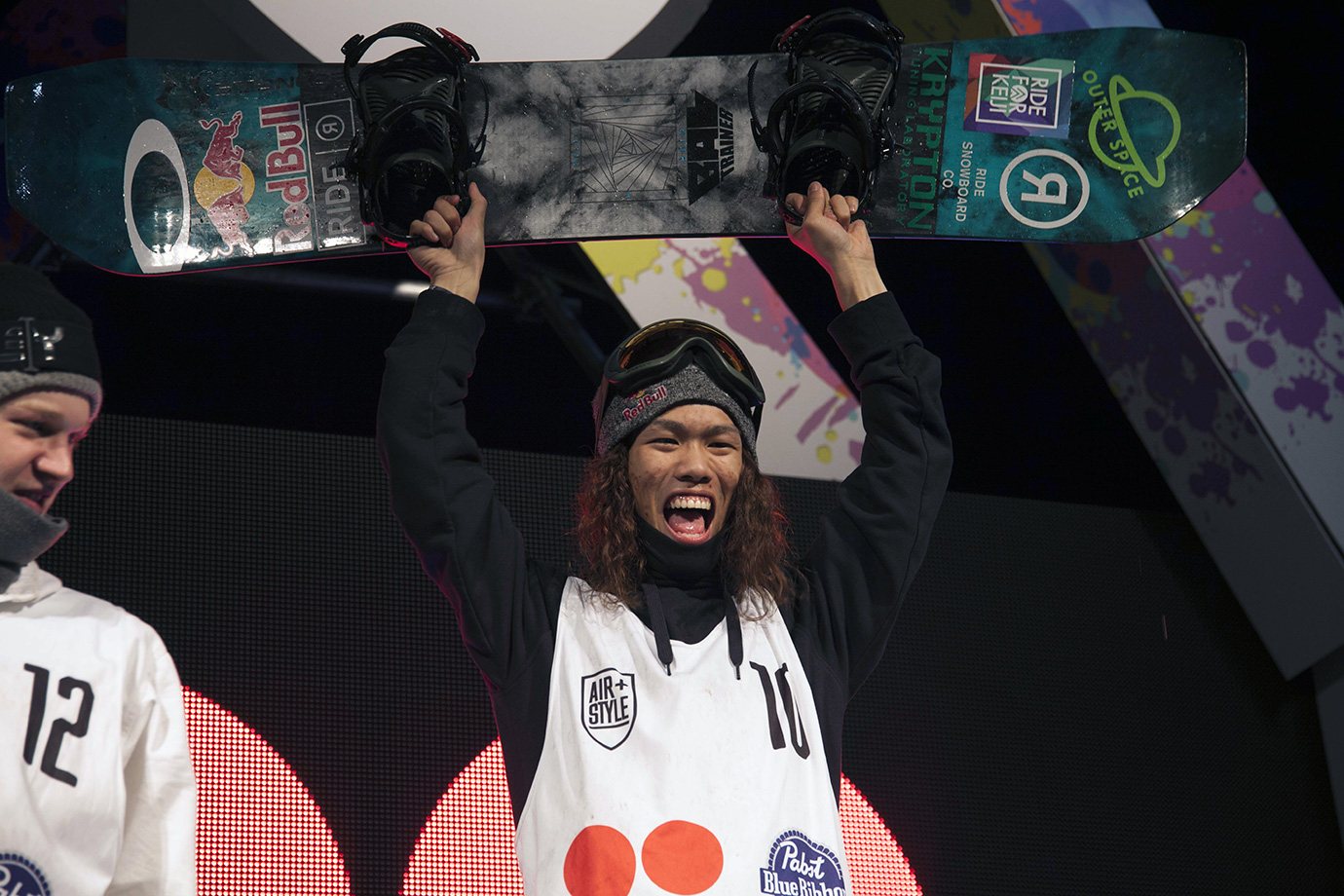 Kadono has had a very good season of big air riding. He made the X Games podium with a bronze medal and has now won the Air+Style L.A. competition.