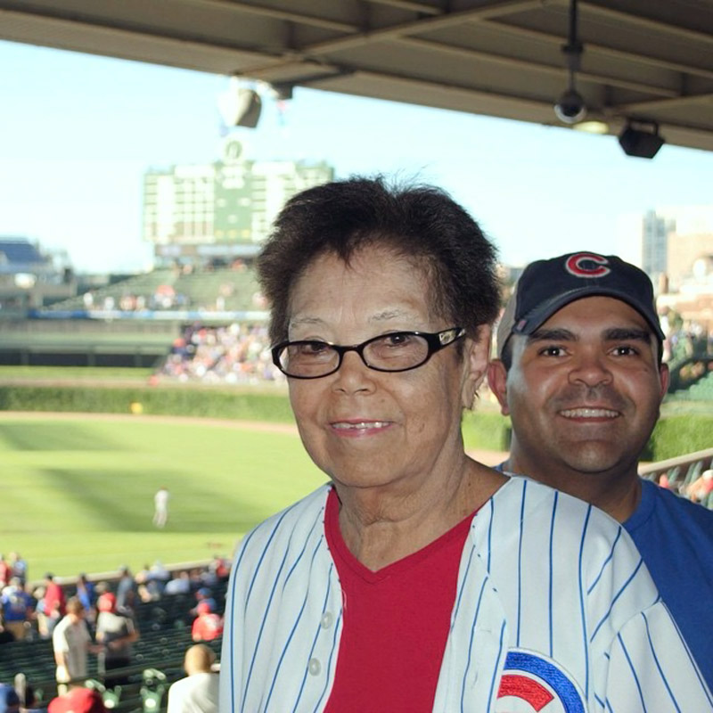 @sportsillustrated - #tbt in honor of #MothersDay. My mom's first and only trip to #WrigleyField in 2010, less than 2 years before she passed. #RIP #goCubsgo #keepgoodgoing