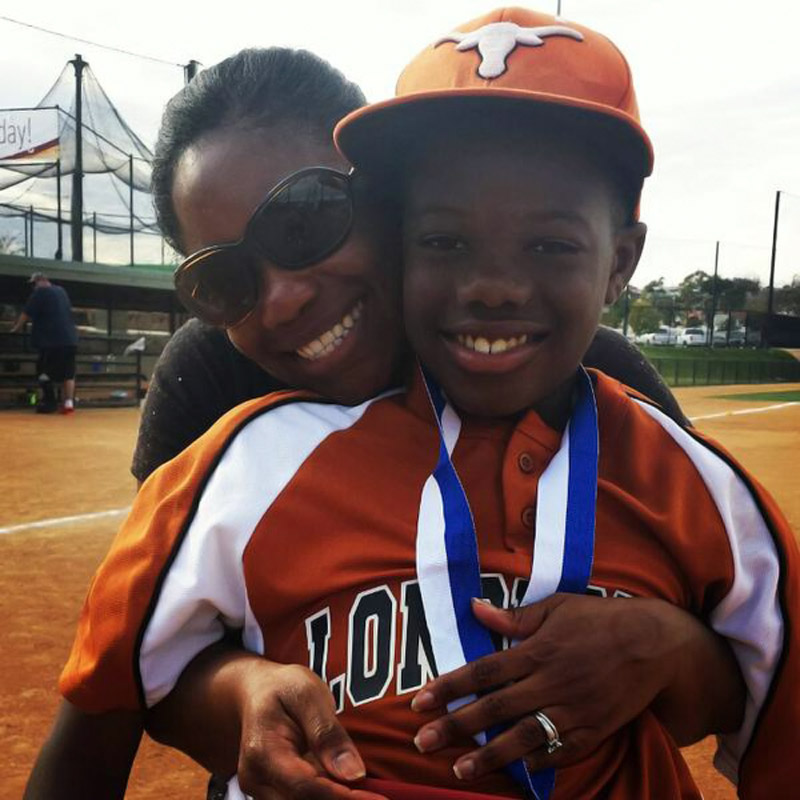 @SInow I'll #KeepGoodGoing w/this pic of my 11 y/o son & his diminutive mom after a travel ball tourney in San Diego.