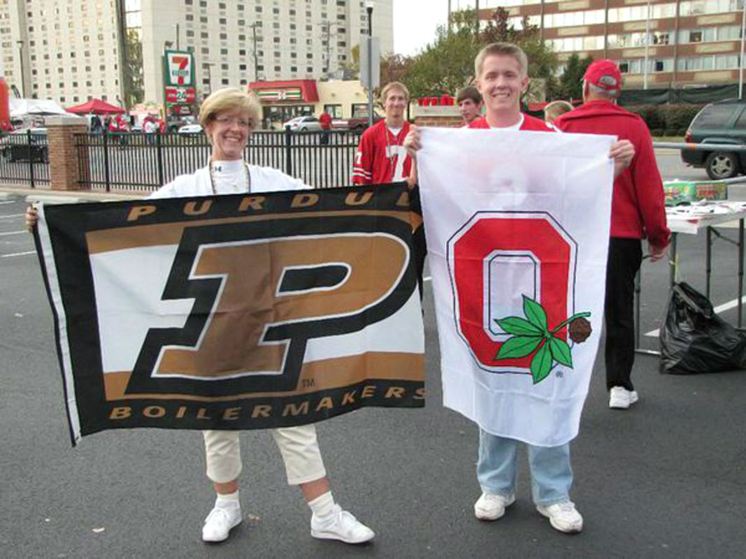 Hey @SInow here's my mom & I supporting our alma maters & tailgating before 2012 Purdue - Ohio St game #KeepGoodGoing