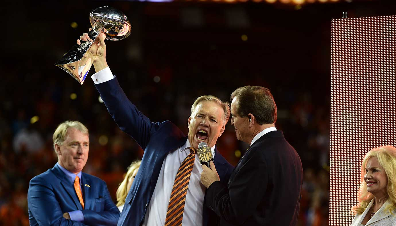 John Elway dedicated the title game to Denver owner Pat Bowlen, who's dealing with Alzheimer.