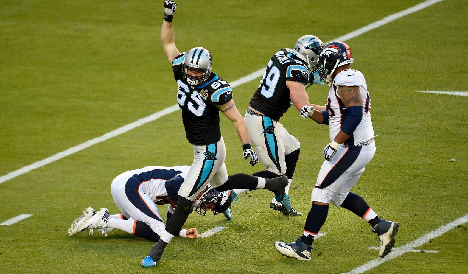 Carolina held Denver to 194 yards gained, the fewest for a Super Bowl winner