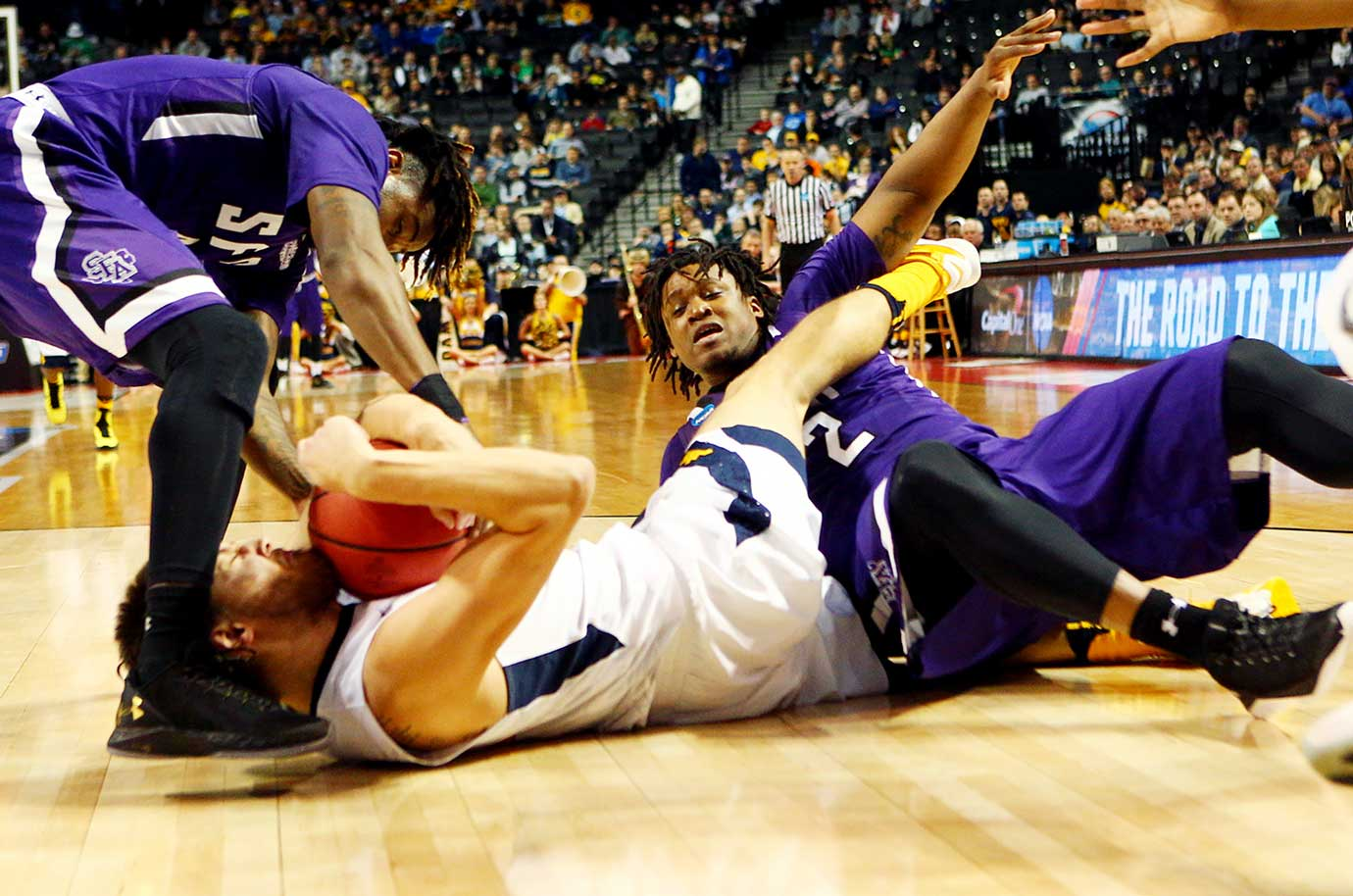 The Mountaineers became the first No. 3 seed to be eliminated from the NCAA Tournament.
