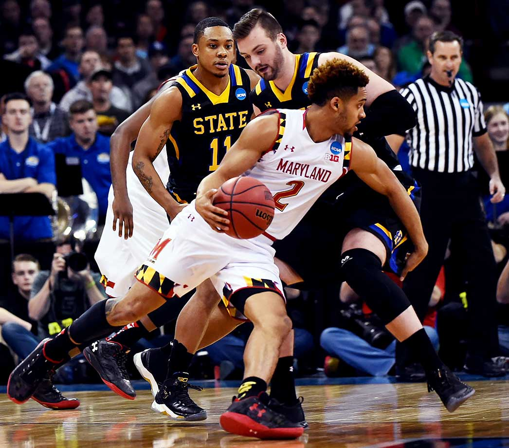 Melo Trimble scored 19 points for Maryland, which plays Hawaii next.
