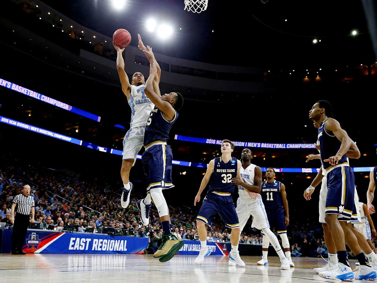 Brice Johnson turned in his fourth consectutive double-double, finishing with 25 points and 12 rebounds as North Carolina defeated Notre Dame.